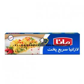لازانیا (نیم پز) 250 گرمی مانا