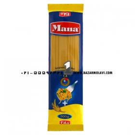 ماکارونی اسپاگتی( فیبر گندم )500 گرمی مانا