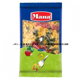 پاستا(پروانه) سبزیجات 500 گرمی مانا
