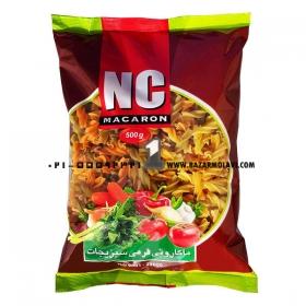 ماکارونی(پاستا پیچی) سبزیجات 500 گرمی انسی