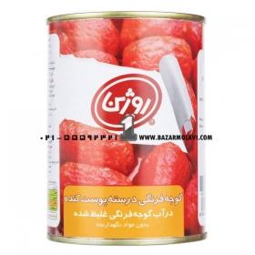 کنسرو گوجه فرنگی پوست کنده  380 گرمی روژین