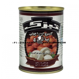 کنسرو لوبیا قارچ (380 گرمی) تبرک