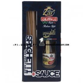 ماکارونی اسپاگتی (سبزیجات_سس پستو) 500 گرمی زر ماکارون