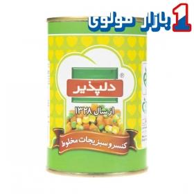 کنسرو سبزیجات مخلوط (420 گرمی) دلپذیر