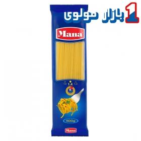 ماکارونی اسپاگتی (سایز1.4) 500 گرمی مانا