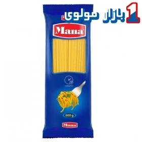ماکارونی اسپاگتی (سایز2.7) 600 گرمی مانا