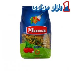 پاستا (فوسیلی) سبزیجات 500 گرمی مانا