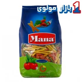 ماکارونی (پاستا میکس سبزیجات) 500 گرمی مانا