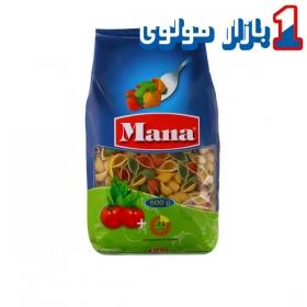 ماکارونی (پاستا گوش ماهی سبزیجات) 500 گرمی مانا