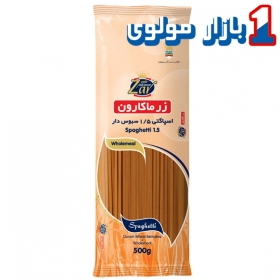 ماکارونی اسپاگتی سبوس دار 500 گرمی( قطر 1.5)  زر ماکارون