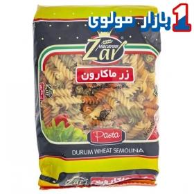 ماکارونی (پاستا مخلوط سبزیجات) 500 گرمی زر ماکارون